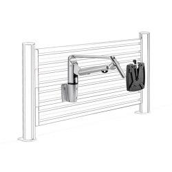 LiftTEC | SlatWall LiftTEC bras IV - fixation pour panneau d'organisation | Accessoires de table | Novus