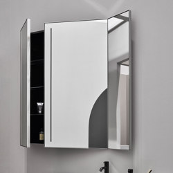 Arcadia Pan mirror with LED light and side container | Mirror cabinets | Ceramica Cielo