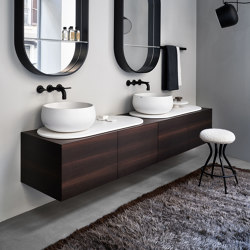 Delfo washbasin on cabinet | Wash basins | Ceramica Cielo