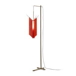 Ann Demeulemeester Chan 2 Floor Lamp Scarlet | Cream | Free-standing lights | Serax