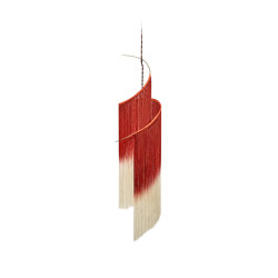 Ann Demeulemeester Rey 1 Pendant Lamp Scarlet | Cream | Lámparas de suspensión | Serax