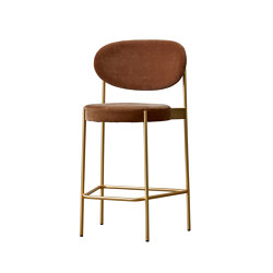 Series 430 | Bar Stool 65 Brass Finish | Sillas de trabajo altas | Verpan
