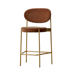 Series 430 | Bar Stool 75 Brass Finish | Taburetes de bar | Verpan