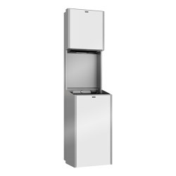 EXOS. Paper towel dispenser and waste bin combination | Dispensadores de papel | Franke Water Systems