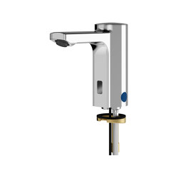 F5E Electronic pillar tap for separate power supply | Wash basin taps | Franke Water Systems