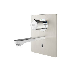 F5E-Therm Electronic thermostatic in-wall mixer with battery operation | Wash basin taps | Franke Water Systems