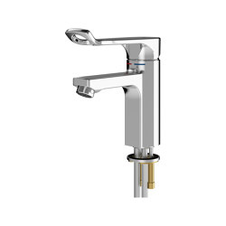 F5L-Mix single-lever pillar mixer for accessible washing facilities | Wash basin taps | Franke Water Systems