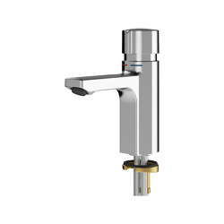 F5S-Mix self-closing pillar mixer | Wash basin taps | Franke Water Systems