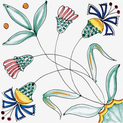 Classico Vietri Fiore Stilizzato | Carrelage céramique | Ceramica Francesco De Maio