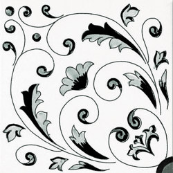 Fiori Scuri Crestarella Nero | Ceramic tiles | Ceramica Francesco De Maio