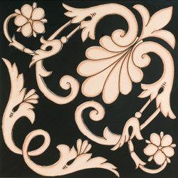 Fiori Scuri Ieranto Nero | Ceramic tiles | Ceramica Francesco De Maio