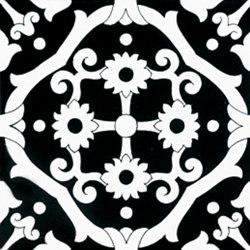 Fiori Scuri Tovere Nero | Ceramic tiles | Ceramica Francesco De Maio