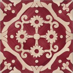Fiori Scuri Tovere Rosso | Ceramic tiles | Ceramica Francesco De Maio