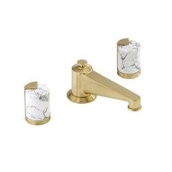 Le 9 | Rim mounted 3-hole basin mixer | Grifería para lavabos | THG Paris