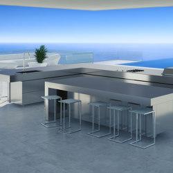 KITCHEN ISLAND STAINLESS STEEL RAIATEA | Island kitchens | Fesfoc