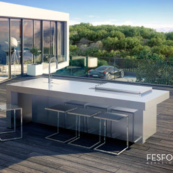 LUXURY STAINLESS STEEL KITCHEN ISLAND KAUAI | Outdoor kitchens | Fesfoc