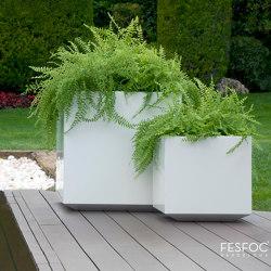 PAINTED STAINLESS STEEL POTS KUBIK | Plant pots | Fesfoc
