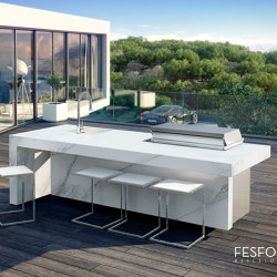 PORCELAIN KITCHEN ISLAND KAUAI | Outdoor kitchens | Fesfoc