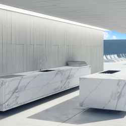 PORCELAIN OUTDOOR KITCHEN ISLAND EMPIRE | Fitted kitchens | Fesfoc