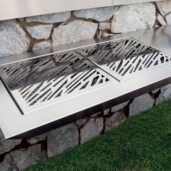 STAINLESS STEEL COAL BBQ STROMBOLI | Outdoor kitchens | Fesfoc