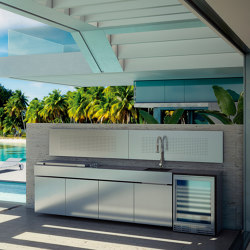 STAINLESS STEEL LUXURY OUTDOOR KITCHEN | Fitted kitchens | Fesfoc