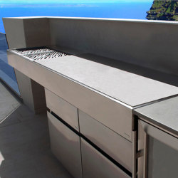STONE WORKTOP KRAKATOA CHARCOAL BBQ | Fitted kitchens | Fesfoc