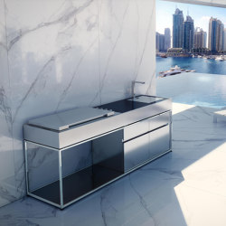 TERRACE OUTDOOR KITCHEN COCOA | Compact outdoor kitchens | Fesfoc