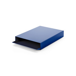 Stapler | File Tray Stack, saphire blue RAL 5003 | Desk tidies | Magazin®