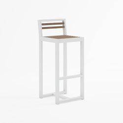 DNA Teak Counter Stool with Backrest | Counter stools | GANDIABLASCO