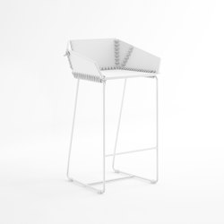 Textile Counter Stool with Backrest | Counter stools | GANDIABLASCO