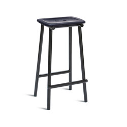 Tubby Tube Bar Stool | Wooden seat | Taburetes de bar | Please Wait to be Seated