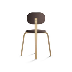 Afteroom Dining Chair Plus, Seat and backrest with fabric | Sillas | MENU