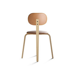 Afteroom Dining Chair Plus, Seat and backrest with leather | Sillas | MENU