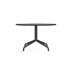 Harbour Column Lounge Table, Ø80, Black Aluminium & Steel / Black Oak | Coffee tables | MENU