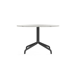 Harbour Column Lounge Table, Ø80, Black Aluminium & Steel / Estremoz Marble | Coffee tables | MENU