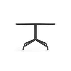 Harbour Column Lounge Table, Ø80, Black Aluminium & Steel / Charcoal Linoleum | Coffee tables | MENU