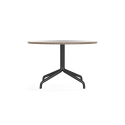 Harbour Column Lounge Table, Ø80, Black Aluminium & Steel / Kunis Breccia Stone | Couchtische | MENU
