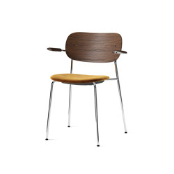 Co Chair w/ Armrest, Chrome / Seat with fabric | Chairs | MENU