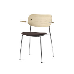 Co Chair w/ Armrest, Chrome / Seat with fabric   Chairs   MENU