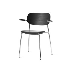 Co Chair w/ Armrest, Chrome / Seat with leather | Chairs | MENU