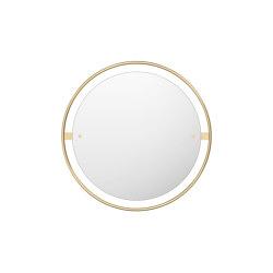 Nimbus Mirror, Ø60, Polished Brass | Mirrors | MENU