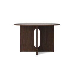 Androgyn Dining Table, Ø120, Dark Stained Oak | Dining tables | MENU