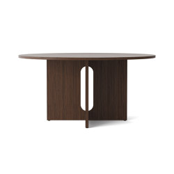 Androgyn Dining Table, Ø150, Dark Stained Oak | Tavoli pranzo | MENU
