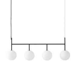 TR Bulb Suspension Frame, Black / Matte Opal, w/Dim to Warm | Suspended lights | MENU