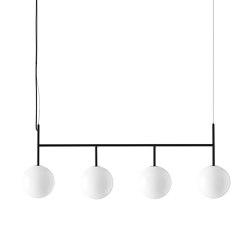 TR Bulb Suspension Frame, Black / Shiny Opal, w/Dim to Warm | Suspended lights | MENU