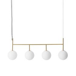 TR Bulb Suspension Frame, Brass / Matte Opal, w/Dim to Warm | Suspended lights | MENU