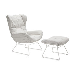 Leyasol | Outdoor | Wingback Chair with Ottoman | Armchairs | FREIFRAU MANUFAKTUR