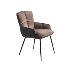Marla | Armchair Low with 4-legs steel frame | Sillas | FREIFRAU MANUFAKTUR