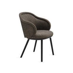 Ona | Curved Armchair with wooden frame | Chairs | FREIFRAU MANUFAKTUR