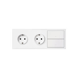 Simon 100 | Kit Double Socket + Double Switch | Push-button switches | Simon